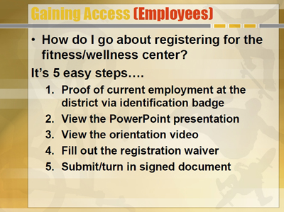 Gaining Access (Employees)