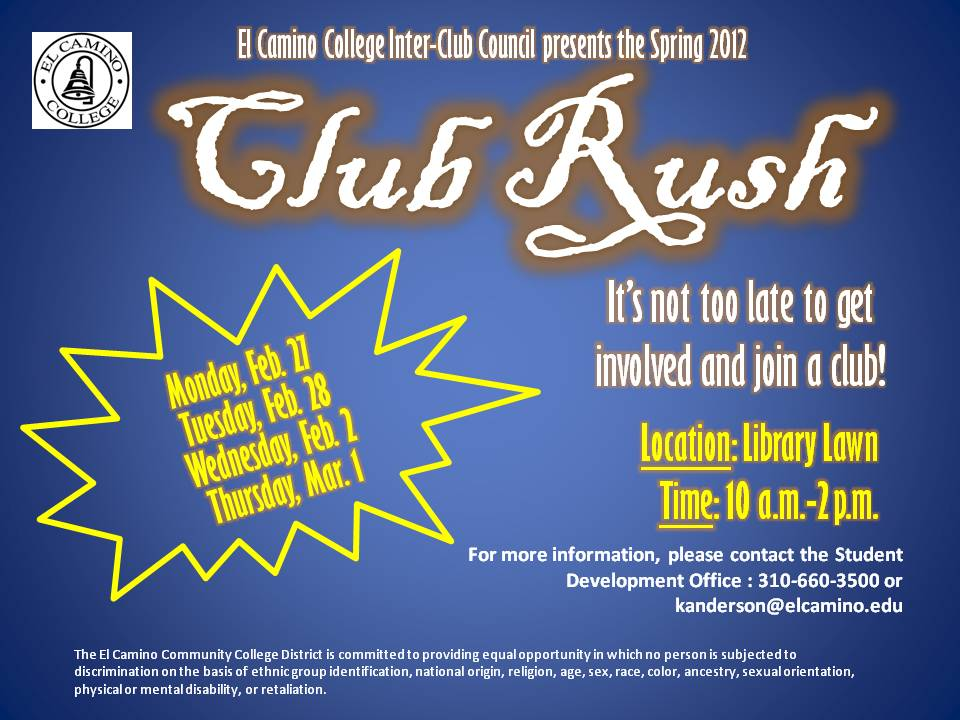 Club Rush Flyer