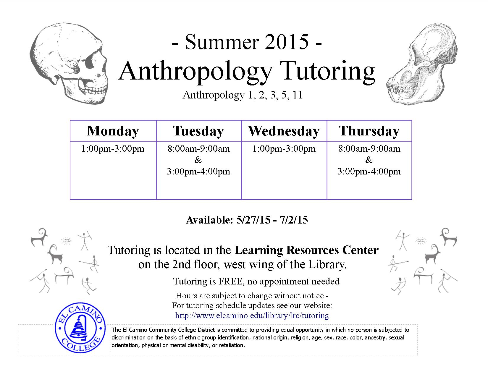 Library / Learning Resources Unit Tutoring @ El Camino College